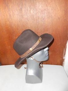 Mens Wrangler Twenty X Dark Brown Wool Western Cowboy Hat L Large