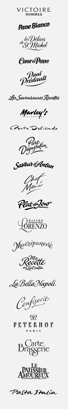 logotypes: tradition, artisan by Peter Becker, via Behance