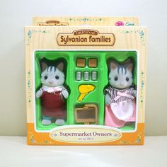 Figure Sylvanian Families SILK CAT FAMILY Epoch Calico Critters SB
