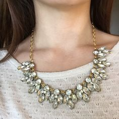 Gorgeous Clear Crystal Statement Necklace New without tags. Comes protected in a padded envelope to ensure a safe delivery. All jewelry is buy 2 get 1 free! Jewelry Necklaces