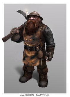 dwarf concept art  | Sapper - The Drakensang Wiki - Armor, locations, quests, and more