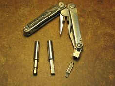 "Leatherman Adaptor by mklotz -- The Leatherman series of tools are really great.  I carry one daily.  But, annoyingly, they use a proprietary form of screwdriver bit and the holder for them on the tool will not accept the ubiquitous 1/4"" hex bits available everywhere.  [I have a Smith & Wesson knockoff of the Leatherman that has a fitting to accept 1/4"" hex but, sadly, it doesn't measure up to the Leatherman in other respects.] Determined to have my way, I took one of the 1/4"" magnetic..."