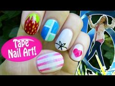 ▶ Tape Nail Art! 5 Nail Art Designs & Ideas Using a Scotch Tape! - YouTube