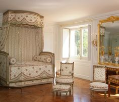 First Floor Bedchamber, Petit Trianon - Louis XV's retreat room became the bedchamber of Madame du Barry in 1772 then that of Marie-Antoinette.