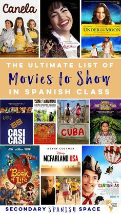 The Ultimate List of Movies to Show in Spanish Class - Secondary Spanish Space Spanish Games, Ap Spanish, Spanish Culture, How To Speak Spanish, Learn Spanish, Spanish Practice, Spanish Alphabet, Spanish Club Ideas, A Level Spanish