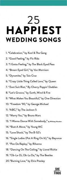 The 20 Happiest Songs To Play At Your Wedding wedding songs Wedding Music Wedding Song List, Wedding Music, Wedding Tips, Fall Wedding, Dream Wedding, Star Wedding, Trendy Wedding, Wedding Party Songs, Wedding Venues