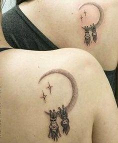 54 Cool Sister Tattoo Ideas To Show Your Bond – Page 2 of 54 – SooPush 54 Cool Sister Tattoo Ideas To Show Your Bond – Page 2 of 54 Sister tattoo, tattoo ideas, friend tattoo, matching tattoo. Mommy Tattoos, Twin Tattoos, Sibling Tattoos, Family Tattoos, Couple Tattoos, Body Art Tattoos, Small Tattoos, Twin Sister Tattoos, Tatoos