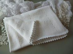 Babydecken - Babydecke gestrickt - NEU  in Bio-Baumwolle GOTS - ein Designerstück von MANA-Strickdesign bei DaWanda