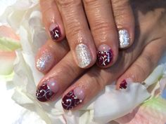 #wine red #silver