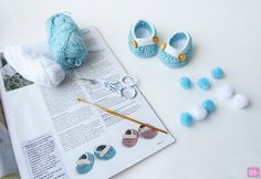 {Crochet Newborn Shoes}