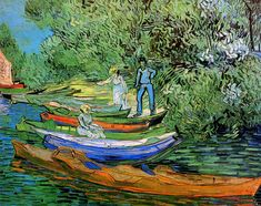 Vincent van Gogh - Bank of the Oise at Auvers [1890] by Gandalf's Gallery