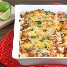 Chicken Enchiladas with Red Chile Sauce by Tracey's Culinary Adventures