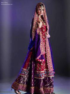 Sana Abbas Lengha Pakistani wedding dress, Pakistani bridal fashion