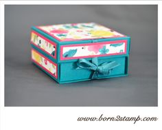Anleitung IN{K}SPIRATION Weeks Box Cute Love Gif, Stamping Up, Decorative Boxes, Projects To Try, Paper Crafts, Packaging, 3d, Handmade, Scrapbooking