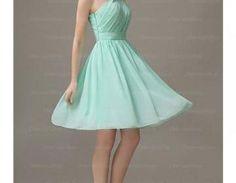 Mint Green Bridesmaid Dresses,Short Bridesmaid Dresses,Bridesmaid Dresses,One Shoulder Bridesmaid Dresses,Chiffon Bridesmaid Dresses,Cheap Bridesmaid Dresses