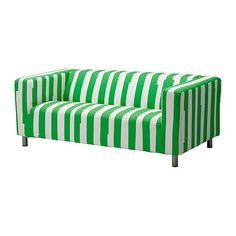 Green Striped Ikea Klippan Slipcover Love Seat Cover Only