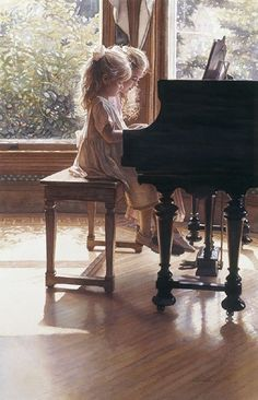 ~ sisters at the piano. I used to love doing piano duets - the thing about it that is better than playing in your own is that it makes the music sound more amplified and grand Foto Art, Watercolor Artists, Watercolor Paintings, Beautiful Paintings, Art Music, Belle Photo, Les Oeuvres, Amazing Art, Art For Kids