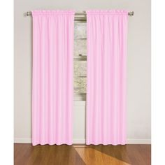 Pink window treatments are a must