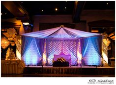 pink blue purple wedding | New York Indian Wedding by KSD Weddings Photojournalists