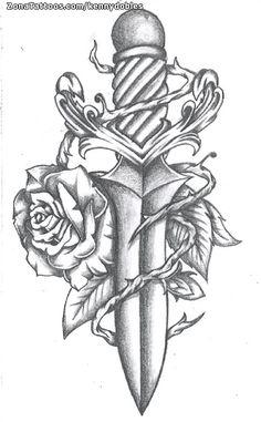Diseño de KENNYDOBLES en ZonaTattoos.com, tu comunidad sobre el mundo del Tatuaje. Badass Drawings, Dark Art Drawings, Art Drawings Sketches Simple, Pencil Art Drawings, Cross Tattoo Designs, Tattoo Design Drawings, Tattoo Sketches, Arte Lowrider, Small Quote Tattoos
