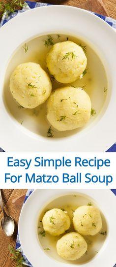 Easy Matzo Ball Soup Recipe - perfect for beginners! (from MelanieCooks.com)