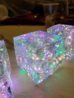Hand made Epoxy Resin Lamp + Free Paperweight Use a slow-curing epoxy to make these so that they don't cook the LEDs. Preschool Crafts, Fun Crafts, Arts And Crafts, Etsy Crafts, Craft Activities, Summer Crafts, Creative Crafts, Mason Jar Crafts, Mason Jar Diy