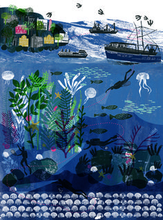 Coast 2012 : Alice Pattullo Illustration beautiful layering and texture created- very atmospheric