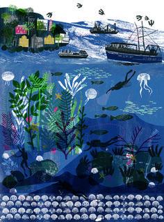Coast 2012 : Alice Pattullo Illustration beautiful layering and texture created- very atmospheric