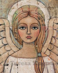 3223 Angelic Vision8x10 closeup Angel Prints