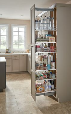 Unbeatable kitchen pantry organization hacks // Rev-A-Shelf 5300 Series 10 Inch by 59 Inch Tall Two Tier Pull Out Pantry Maple Tall Cabinet Organizers Pull Out Pantry Organizers Pull Out Kitchen Pantry Design, Diy Kitchen Storage, Home Decor Kitchen, Interior Design Kitchen, Kitchen Organization, Kitchen Furniture, New Kitchen, Home Kitchens, Organizing