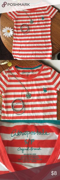 Aeropostale tee 100% cotton Aeropostale tee very cute and in excellent condition !! bundling saves you money Aeropostale Tops Tees - Short Sleeve