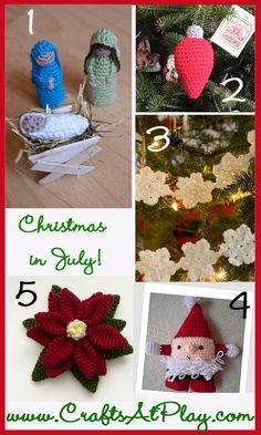 Christmas Crochet Inspiration - There are over 25,000 free patterns on the Crochet At Play site below are some of my favorites from the Christmas categories.