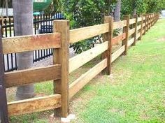 modern timber fencing