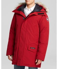 Men Canada Goose Langford Parka Red