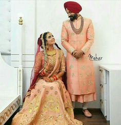 sherwani Indian Wedding Photos, Indian Wedding Photography, Indian Wedding Outfits, Bridal Outfits, Indian Bridal, Indian Outfits, Bridal Dresses, Indian Weddings, Punjabi Wedding Couple