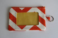 ID Wallet / Keychain ID Wallet in Orange and by BonnieMadeWithLove