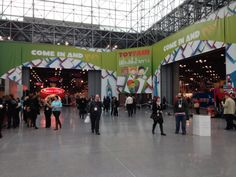 One of the many entrances entrances to Toy Fair. It's big and lots of fun.