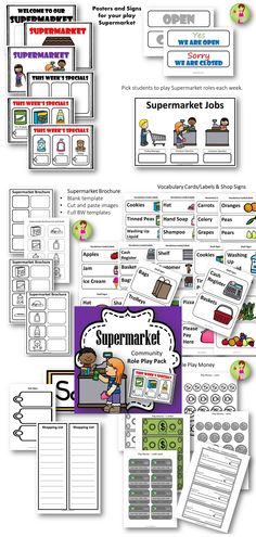 Supermarket Role Play Pack - everything you need to set up your own supermarket in the classroom.