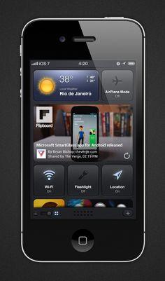 iOS7 Concept Dashboard