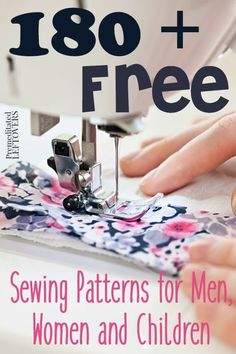 180+ Free Sewing Patterns for Men, Women and Children- Find the perfect sewing patterns for babies, girls, boys, men, and women. They are all free!