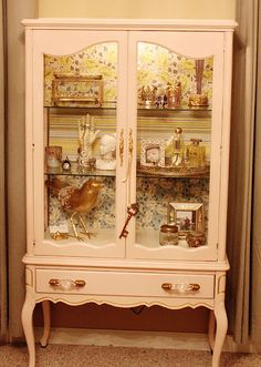 DIY--Jewelry Cabinet made from china/curio cabinet