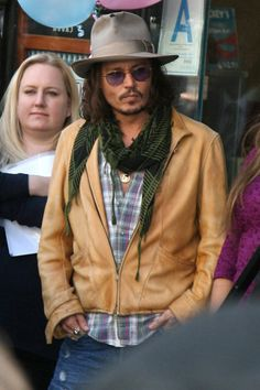 SO Depp ...  Could I just photo shop that woman's face out?!