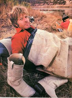 """redfordmcqueenandnewman: """" Robert Redford camping expidetion for his book in 1972 """"I think the environment should be put in the category of our national security. Defense of our resources is just as important as defense abroad. Robert Redford Movies, Paul Newman Robert Redford, Hollywood Men, Classic Hollywood, Sundance Kid, Nikolaj Coster, I Love Cinema, British Academy Film Awards, Environmentalist"""