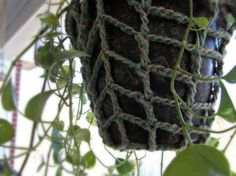 Crocheted Twine Plant Hanger