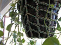 Crocheted Twine Plant Hanger