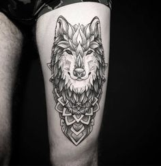 Ornamental Wolf Tattoo by Mary Tereshchenko