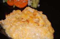 chicken and cheesy rice casserole