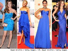 Complementos para un vestido azul electrico corto