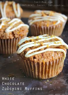 Head on over to TheItMom.com where you can find some of my recipes as well as this recipe for White Chocolate Zucchini Muffins. They are a great way to trick your kiddos into eating some veggies. They will never even know you hid them in these delicious breakfast treats.