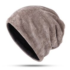 a11308f72d1 Men Women Winter Corduroy Double Layers Beanie Hat Skullcap at Banggood  Winter Hats For Women